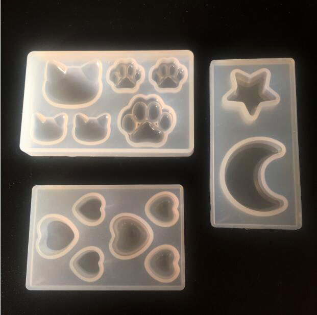 Cat Claw Paws Silicone Fondant Mold Jewelry Pendant Making Epoxy Resin Mold Tool