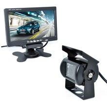 """18 IR Kamera Cofania + NOWY 7 """"Monitor LCD + Zestaw Car Widok Z Tyłu aparatu AUTOBUSÓW I Samochodów Ciężarowych czujnik parkowania samochodów 15 M Lub 20 M Kabla opcjonalnie"""