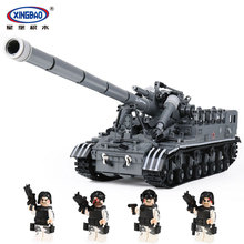 XingBao 06001 1389Pcs Creative MOC Military Series The T92 Tank Set Children Education Building Blocks Bricks Toys Model Gift xingbao military series artillery canon model building blocks gun figure bricks compatible with toys children gift