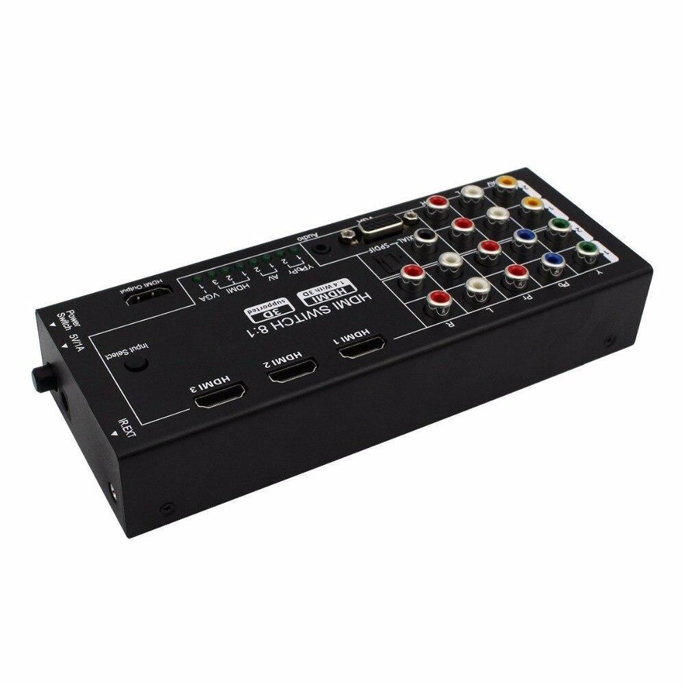 8 in 1 AV /YPbPr/ VGA /HDMI swtich to HDMI H18 потолочная люстра idlamp grace 299 6pf whitepatina