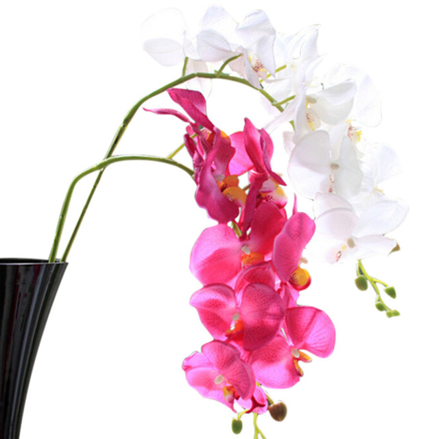 Aliexpress buy 1 pc 78cm phalaenopsis artificial orchid flower 1 pc 78cm phalaenopsis artificial orchid flower for wedding home decoration decorative silk flowers wedding supplies mightylinksfo