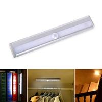LightInBox 50 шт./лот светодиодный кабинет ночник 10 светодиодный движения Сенсор светодиодный свет индукции бар для Кухня шкаф шкаф