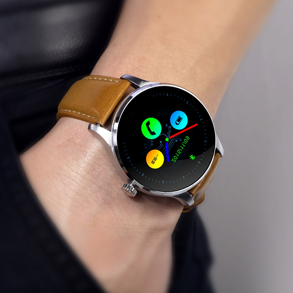 K88H Smart Watch Bluetooth font b SmartWatch b font 1 22 Inch IPS Round Screen Heart