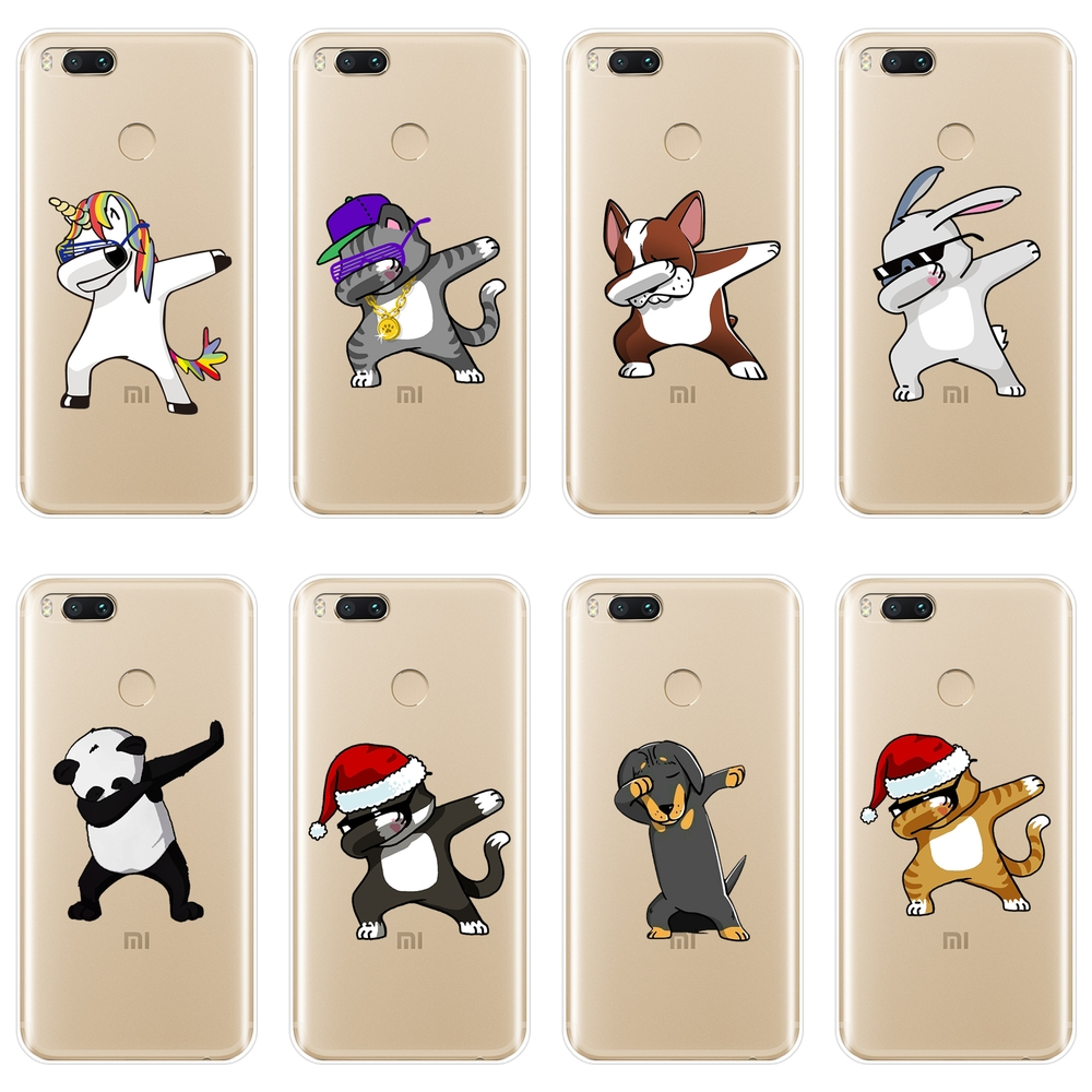 For <font><b>Xiaomi</b></font> MiA1 MIA2 Mi8 Phone Case Silicone Cat <font><b>Pug</b></font> Dog Soft Back <font><b>Cover</b></font> For <font><b>Xiaomi</b></font> <font><b>Mi</b></font> A1 <font><b>A2</b></font> Lite 8 SE 5 5C 5S 5X 6 6X Plus Case image