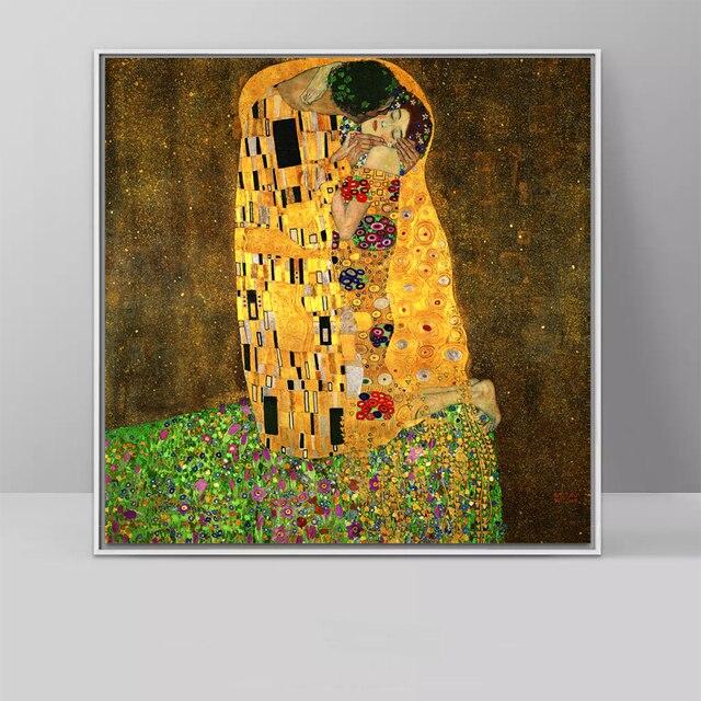 Kuss Malerei Durch Gustav Klimt Wand Kunst Bilder Auf Leinwand ...