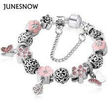 Women Bracelet Unique Silver Crystal Charm