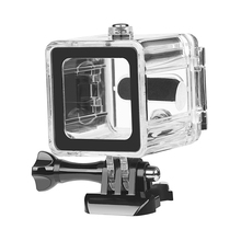 For Go Pro Hero 6 5 4 Session Camera Shoot 40M Diving Waterproof Case Underwater Housing Case For Go Pro Session Accessories 40m waterproof housing case back door for gopro fusion 360 camera underwater box for go pro fusion action camera accessories