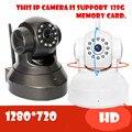 Беспроводная Ip-камера 720 P Wi-Fi HD CCTV Аудио Мега P2P Тревоги Baby monitor Network IR-CUT Ночного Видения Записи PT безопасности памяти sd
