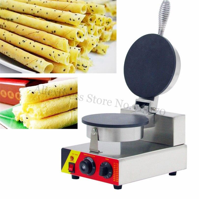 все цены на Electric Egg Roll Waffle Maker Stainless Steel Crispy Waffle Baker Nonstick Pan 220V/110V Household Commercial Use онлайн
