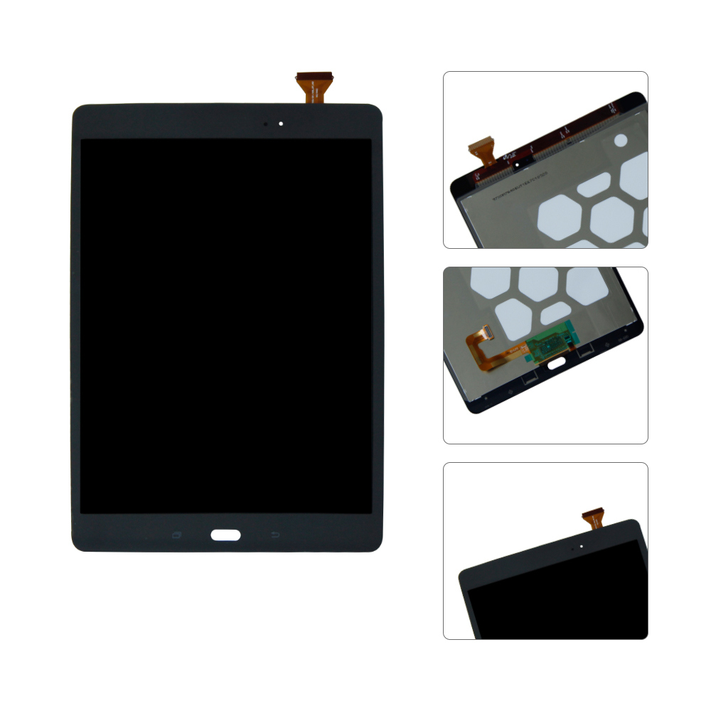 Pour Samsung Galaxy Tab Un 9.7 SM-T550 T550 T551 T555 Lcd Affichage Écran Tactile Digitizer Outils Gratuits Noir Blanc