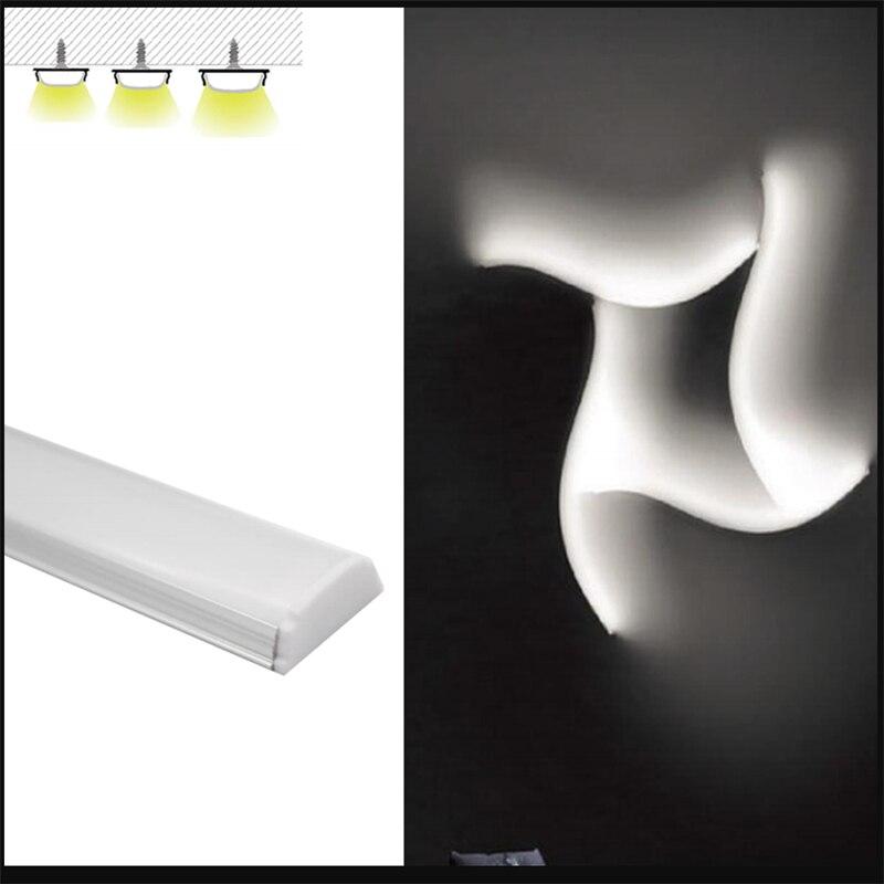 10 30 pcs lote 1 m pc 40 polegada flexivel led do canal o perfil de