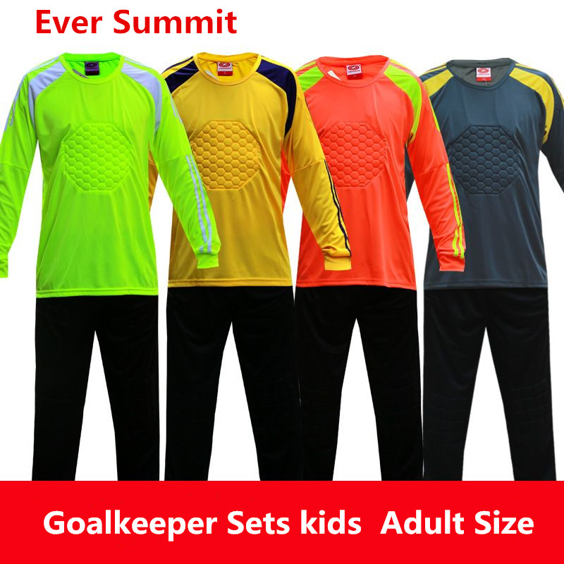 US $21.99  Soccer Jersey Ever Summit Goalkeeper Sets 4 Colors Training Porteros ropa Football Shirts Style 0003 Kids Adult size Customize in Soccer
