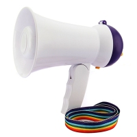 New Stylish Best Price Mini Portable Megaphone Foldable Bullhorn Hand Held Grip Loud Clear Voice Booster
