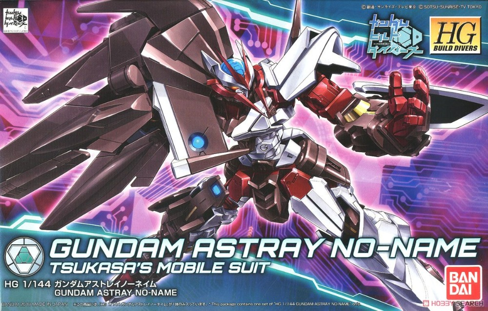 Bandai 1/144 HGBD 012 Gundam Astray No Name HGBDGundam Model Kits Scale model building Robot kid toy