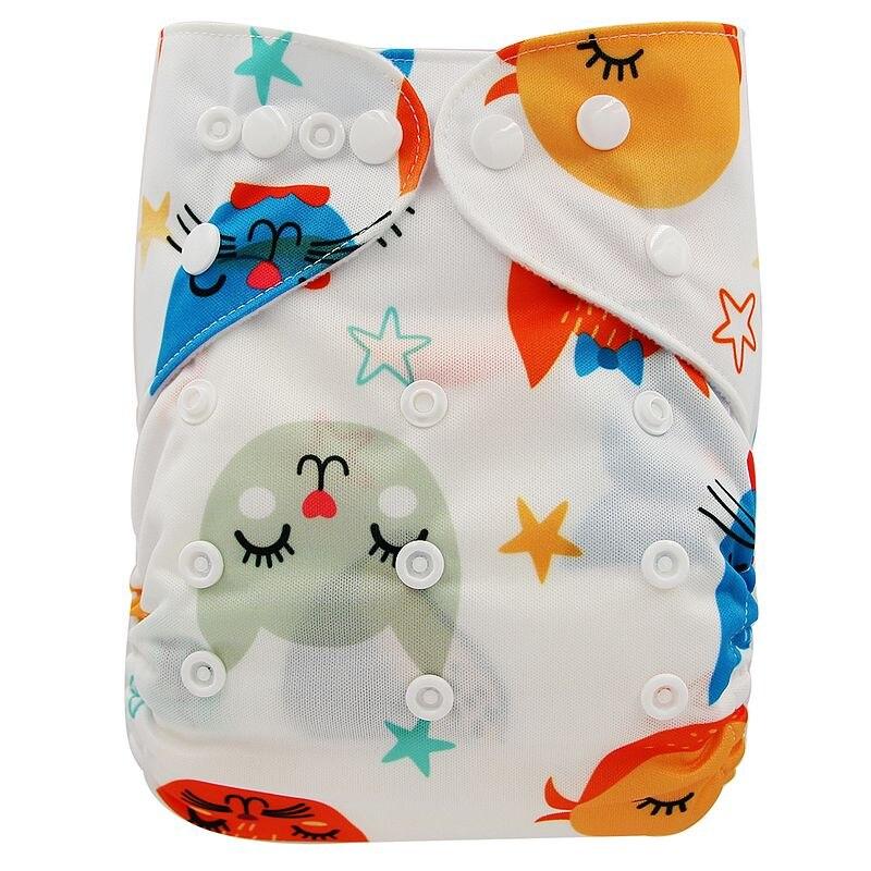 Ohbabyka, детские тканевые подгузники, многоразовые подгузники, унисекс, детские штаны для ухода за ребенком, водонепроницаемые тканевые подгузники с карманами, детские подарки для душа - Цвет: OB169