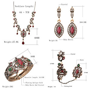 HTB19BPMaTXYBeNkHFrdq6AiuVXas - 4Pcs/lot Boho Turkish Jewelry Sets Vintage Red Necklace Bracelet Earrings Ring Set Indian Crystal Antique Gold Wedding Jewellery
