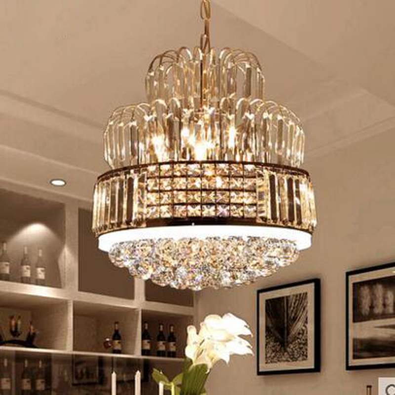 European crystal chandelier led restaurant chandelier modern minimalist dining room table bedroom room lighting living room lamp wrought iron chandelier minimalist modern european style retro living room lights restaurant all copper chandelier led