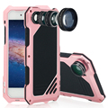 Phone case para apple iphone 7 se 5 5S 6 6 s plus Macro Lente Da Câmera do Telefone Sacos Capa Fundas Coque de Metal À Prova D' Água À Prova de Choque