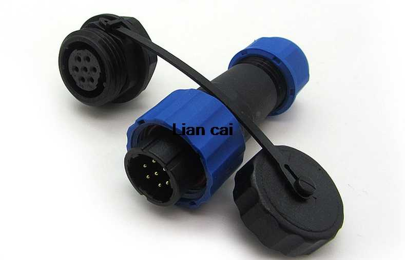 Conector do cabo conector à prova d' água tipo SP16 IP68 plug & tomada Macho e Fêmea 2 3 4 5 6 7 9 pin