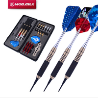 WINMAX Professional Soft Steel Tip Darts with Aluminum Alloy Shaft Needle Nice Packing Gift Box Darts Set for Bristle Dartboard