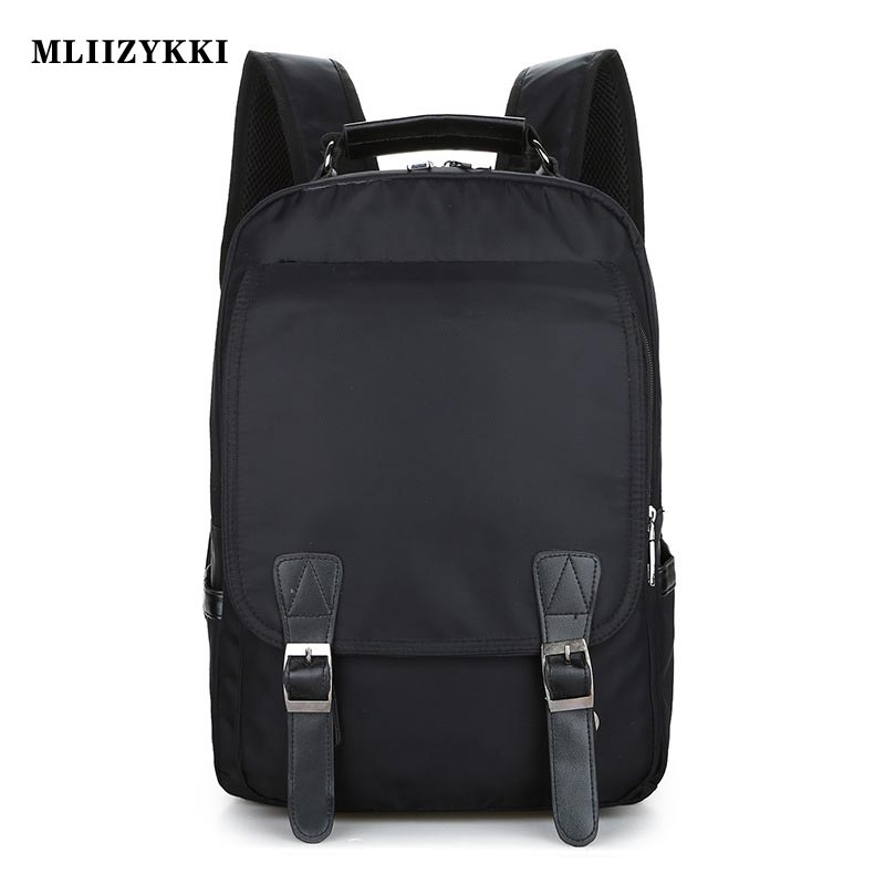 MLIIZYKKI Nylon Men Women Backpack College High Middle School Bags For Teenager Boy Girls Laptop Travel Backpacks Rucksacks