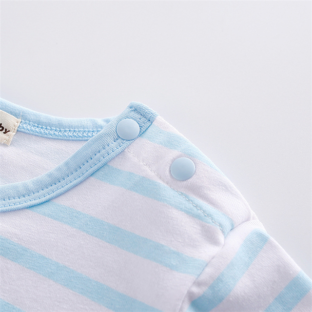 New Baby Rompers Hot Summer New Baby Boys Clothes Cartoon Whale Casual Stripe Short-sleeved Jumpsuit Toddlor Infant Clothing 3