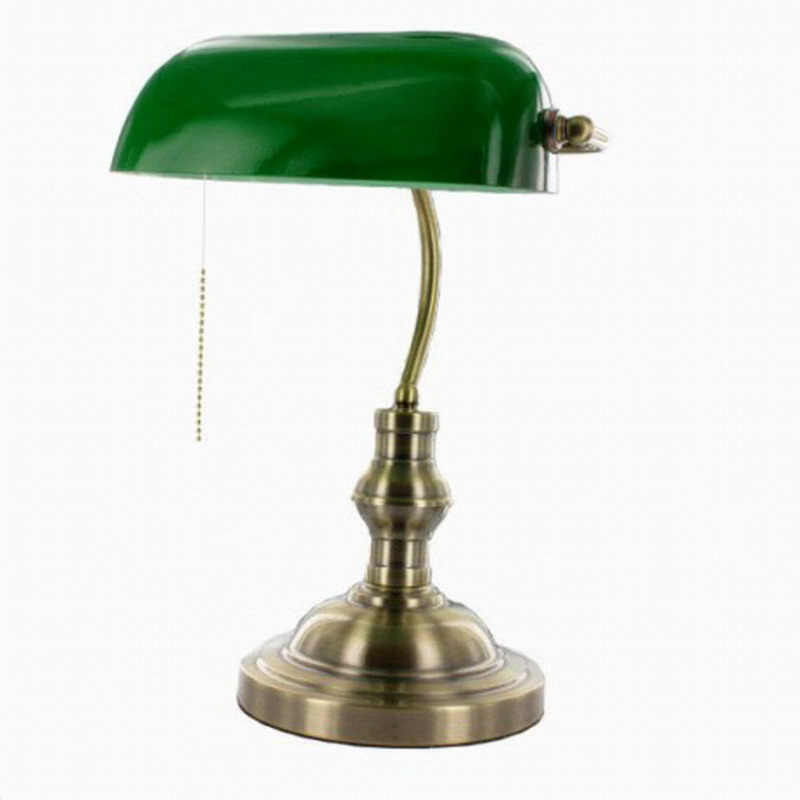 Classical vintage banker lamp table lamp E27 with switch Green glass lampshade cover desk lights for bedroom study home readingClassical vintage banker lamp table lamp E27 with switch Green glass lampshade cover desk lights for bedroom study home reading