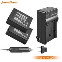 2X 7.2V 1600mAh Li-ion NP-W126 Camera Battery+BatteryCharger+Car charger For Fujifilm FinePix HS30EXR HS33EXR X-Pro1 X-E1 L15