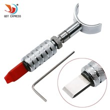 QSTEXPRESS Stainless Handmade Adjustable Swivel Leather Tools Rotating Carving Knife With Blade(China)