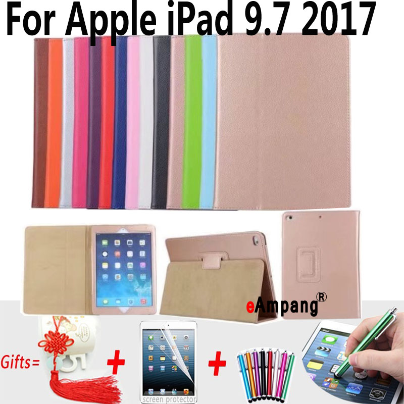 Cover For Apple iPad 9.7 2017 Case A1822 A1823 Slim PU Leather Protective Cover For New iPad 9.7 2017 Case with Stand Holder 1 pcs diy car styling new pu leather free punch with cup holder central armrest cover case for ford 2013 fiesta part accessories