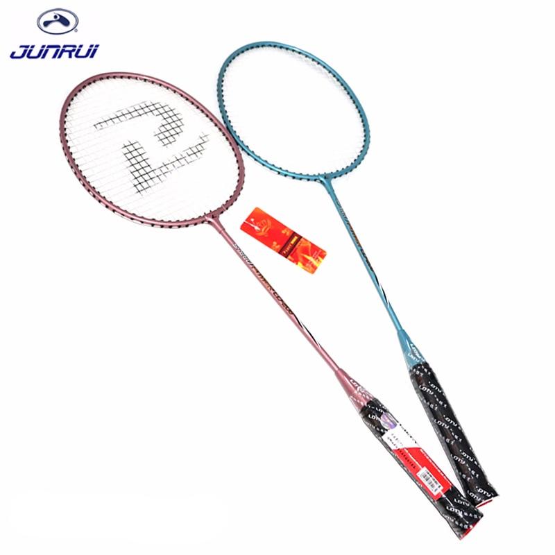 JUNRUI models100% Original Full Carbon Badminton Racket Raquette Light Weight Carbon Sports Suit for Beginners 1 pair