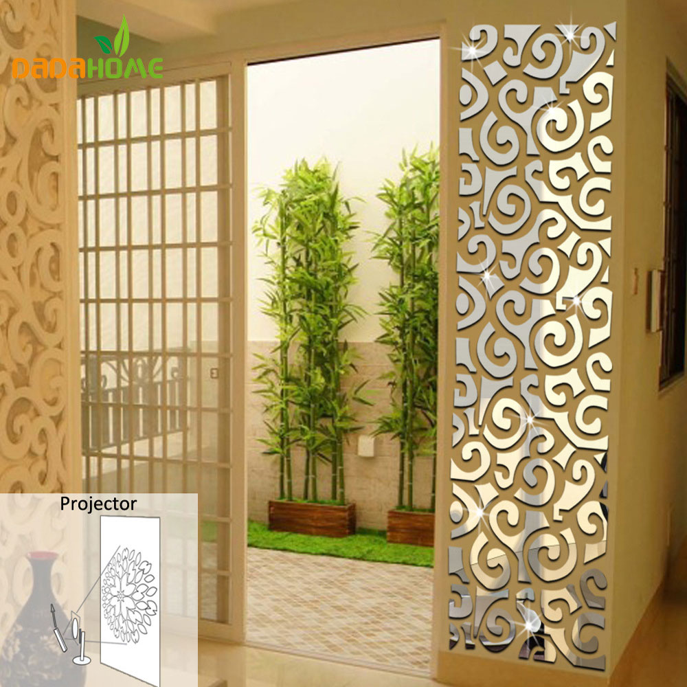 Wall Qrt Waist Decoration Backdrop Mirror Wall Stickers Bedroom Wall ...