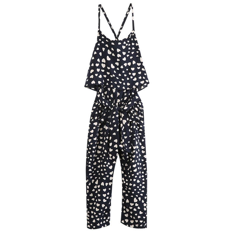 74297610c21 Pudcoco Girl Romper 2017 Summer Kids Baby Girls Clothes Sleeveless Polka  Dot overalls Jumpsuit Trousers Outfits