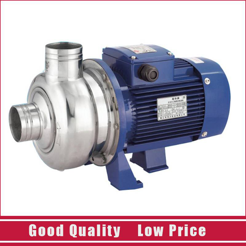 220V Single Stage Centrifugal Water Pump 0.75KW Stainless Steel Clean Water Pump 1 2hp 220v 50hz single phase small stainless steel centrifugal water pump sanitary pump beverage pump dishwasher pump