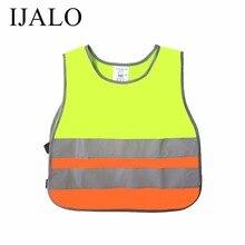 Детский светоотражающий жилет для школьников, тренировочная дышащая куртка для скутера, езды на велосипеде, флуоресцентный жилет