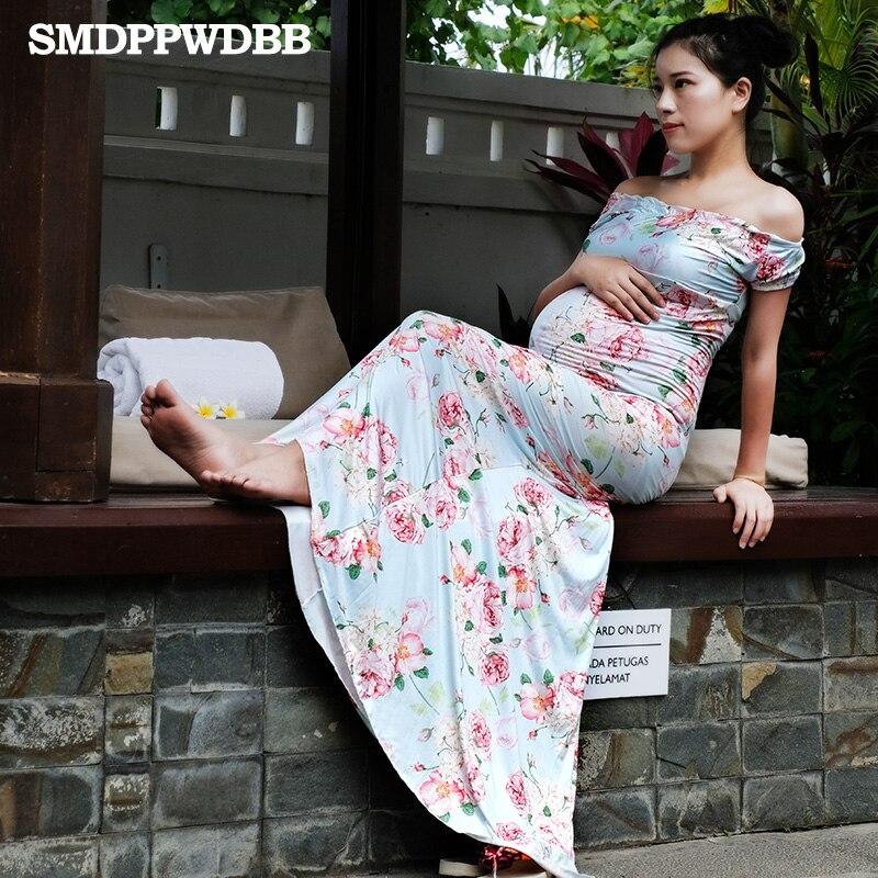 SMDPPWDBB Maternity Photography Props Pregnancy Clothes Maxi Maternity Dresses Plus Size Pregnancy Women Maxi Short Sleeve Dress