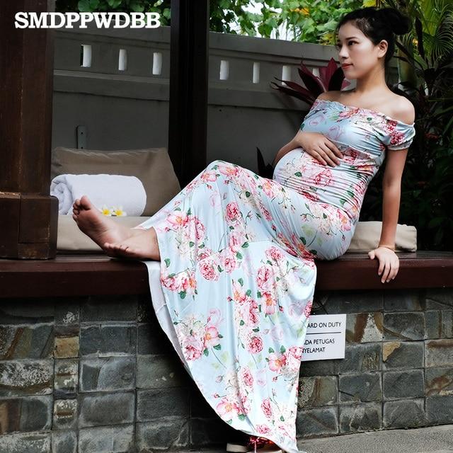 2c9cc45a5 Smdppwdbb Maternidad fotografía props embarazo ropa Maxi Maternidad Vestidos  más tamaño embarazo mujeres Maxi Vestido de