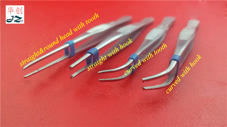 Medical use stainless steel tissue forceps dressing forceps with tooth&hook tweezers ophthalmic plastic 10~18cm length10pcs/box medical micro plastic use stainless steel
