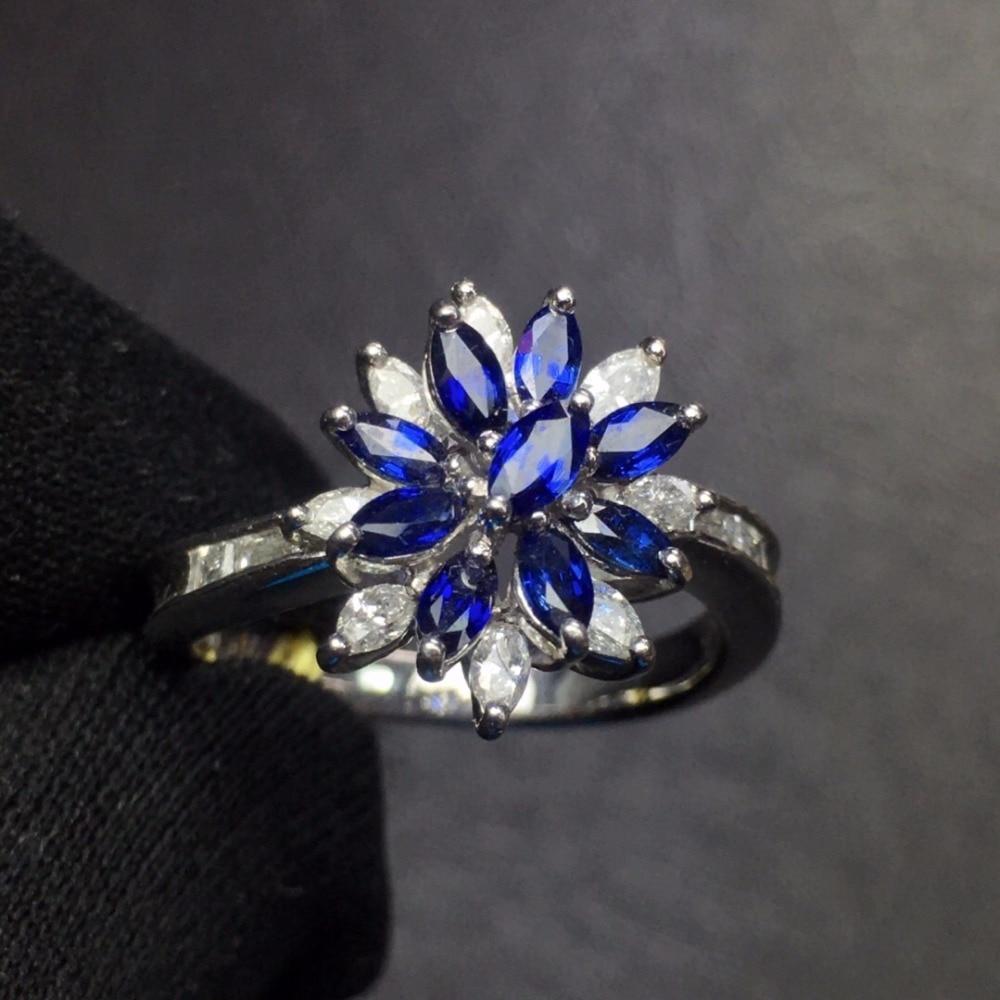 Fine Jewelry Pt900 Real Platinum Gold 100% Natural Blue Sapphire 0.9ct Gemstones Sapphire Diamonds Female Wedding RingsFine Jewelry Pt900 Real Platinum Gold 100% Natural Blue Sapphire 0.9ct Gemstones Sapphire Diamonds Female Wedding Rings