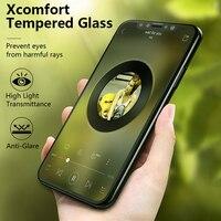 Бэнкс 3D изогнутый край закаленное Стекло Защитные плёнки для IPhone X высоким коэффициентом пропускания света спереди полный Стекло Плёнки
