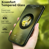 Benks 3D Curved Edge Tempered Glass Screen Protectors For Iphone X High Light Transmittance Front Full Glass Films