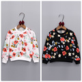 2016 new autumn children clothing for baby girls sweater flower print girls jacket long sleeve kids T shirt for party Pullover