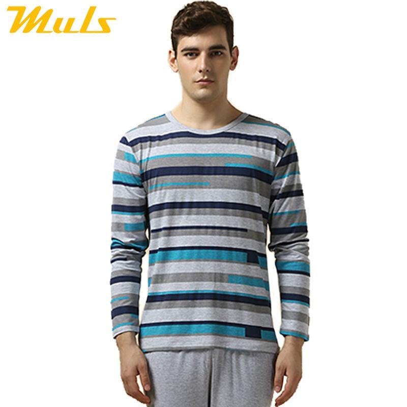 Online Shop On sale pajamas men casual modal striped pijama ...