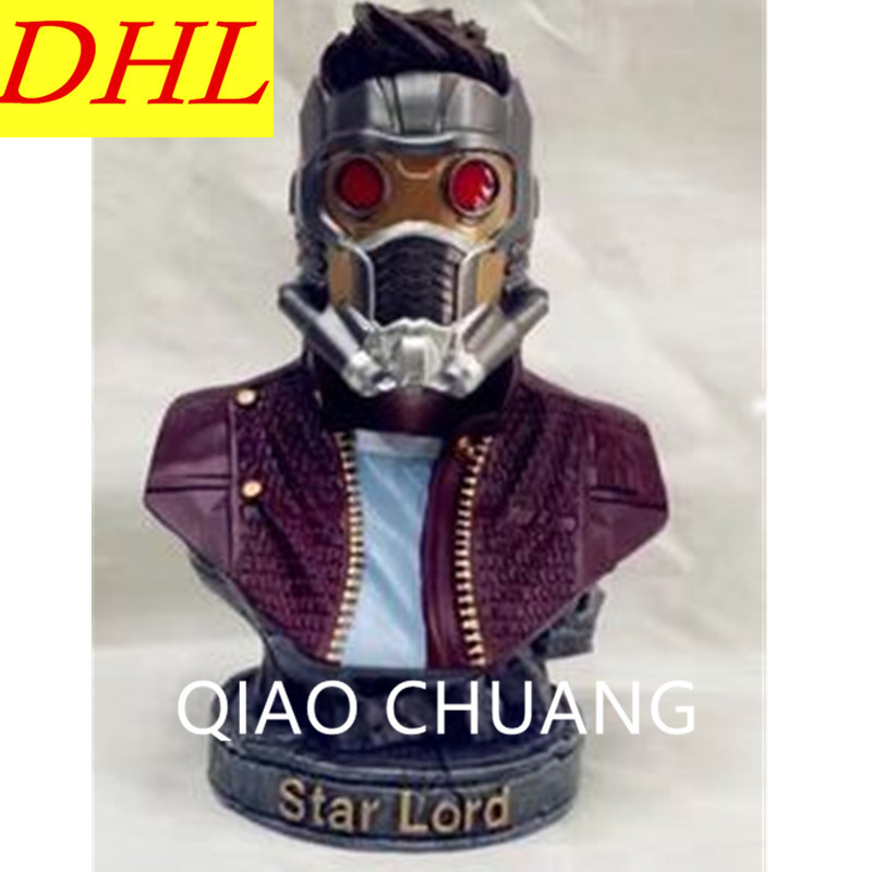 Avengers:Infinity War Guardians Of The Galaxy Peter Jason Quill Star-Lord 1/4 Bust PVC Action Figure Model Toy G1171 1 6 figure doll head shape 12 action figure accessories guardians of the galaxy star lord peter quill chris pratt head carved