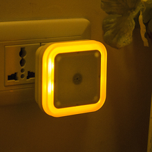 1pc Wall Night Light Sensor Control Night Light Mini Novelty Square Bedroom lamp For Baby Colorful Lights With EU US Plug