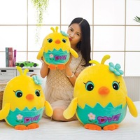 New Coming 35 60Cm Pink Blue Lovely Chicken Doll Beautiful Yellow Chicken Plush Toys Kids Birthday