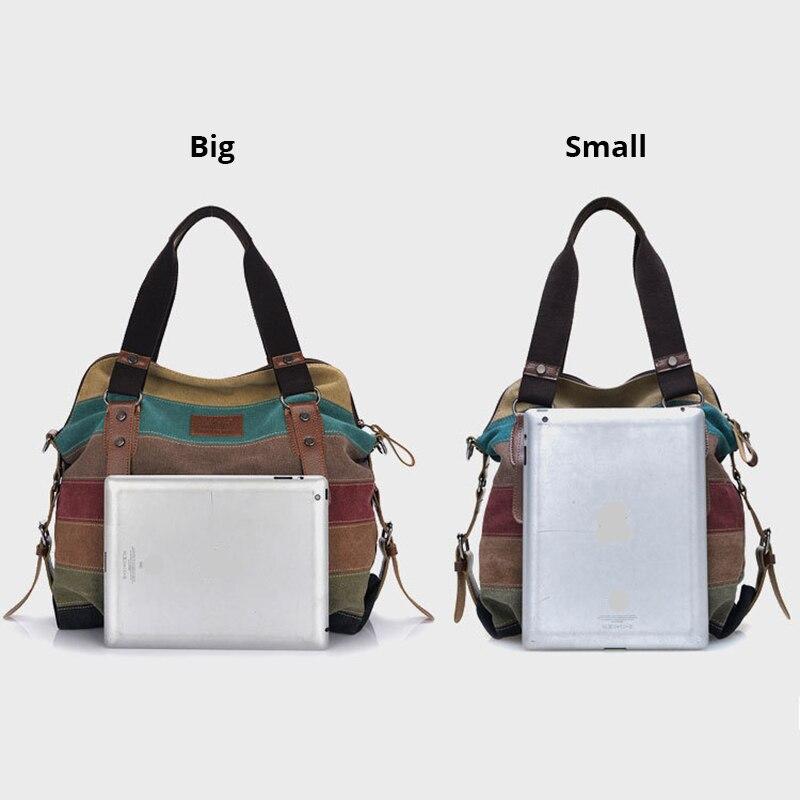 Image 3 - Canvas Bag Fashion Canvas Shoulder Bag Women Handbags Ladies Hand Bags Tote Casual Crossbody Bolsos Mujer Hobos Bolsas Feminina-in Shoulder Bags from Luggage & Bags