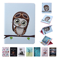 For Apple iPad mini 1/2/3 Flip PU Leather Case Fashion Painting Tablet Smart Cover with Cute Wallet Card Bag 11 Patterns