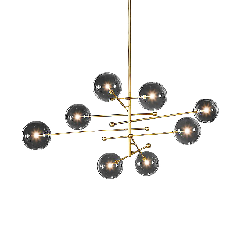 Image 5 - Postmodern LED chandelier ceiling living room hanging lights home fixtures Nordic dining room pendant lamps Glass ball lightingPendant Lights   -