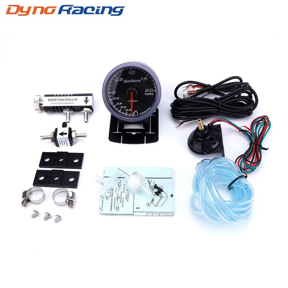 Dynoracing 60 мм автомобилей Turbo Boost gauge 2BAR + регулируемый Turbo Boost контроллер комплект 1-30 PSI в кабина автомобиля метр